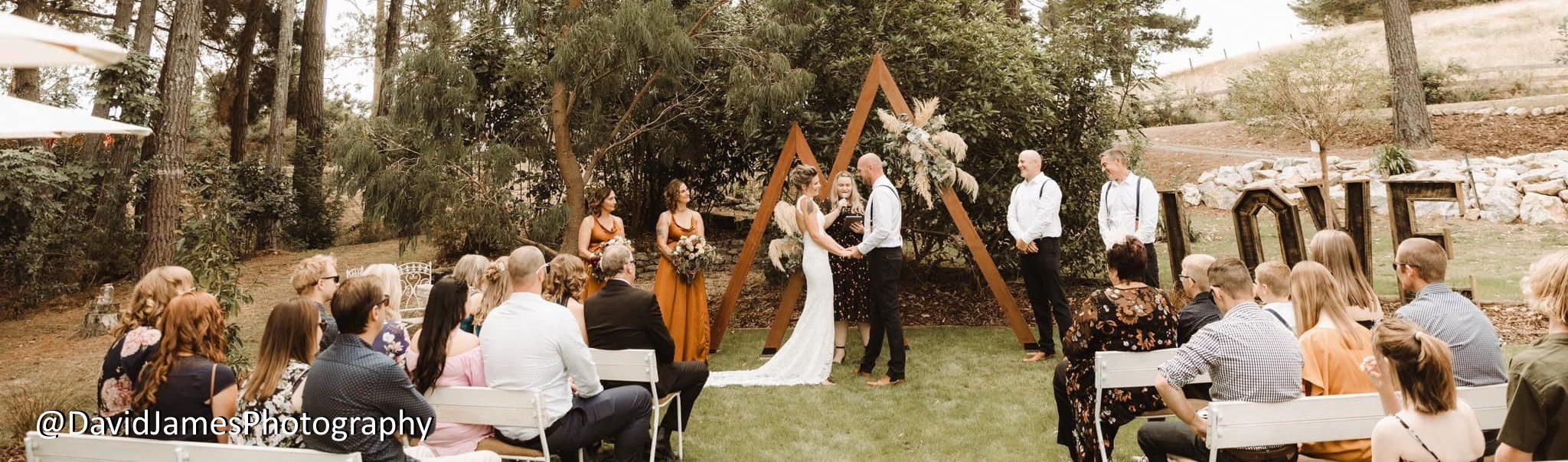 Marriage Celebrant Nelson Tasman Emma performing a wedding